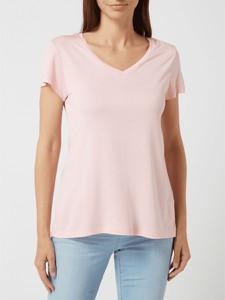 Różowa bluzka Kaffe z krótkim rękawem