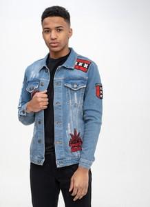 Kurtka Plus Eighteen z jeansu w młodzieżowym stylu