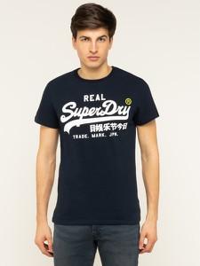 Granatowy t-shirt Superdry