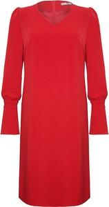 Czerwona sukienka Moda Su prosta w stylu casual