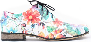 Zapato jazzówki - skóra naturalna - model 246 - kolor kwiatek