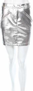 Srebrna spódnica NA-KD ze skóry