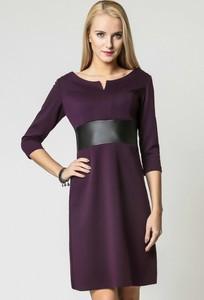 Sukienka sukienki.pl ze skóry ekologicznej mini