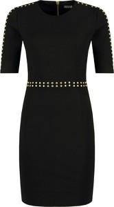 Sukienka Versace Jeans dopasowana z krótkim rękawem mini