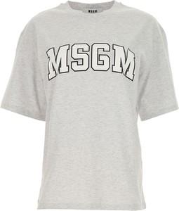 Bluzka MSGM z bawełny z okrągłym dekoltem w młodzieżowym stylu