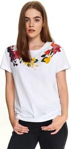 T-shirt Top Secret w młodzieżowym stylu z krótkim rękawem z okrągłym dekoltem