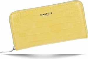Żółty portfel Diana&Co
