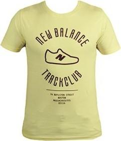 Żółta koszulka New Balance z krótkim rękawem z bawełny w stylu klasycznym