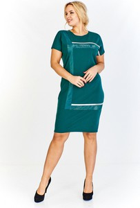 Sukienka Madam Tris z krótkim rękawem z okrągłym dekoltem