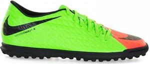 Zielone buty sportowe Nike hypervenomx sznurowane