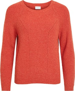 Czerwona bluzka Vila z dzianiny w stylu casual