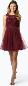 Czerwona sukienka Laona mini z tiulu bez rękawów