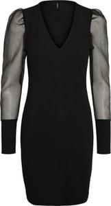 Czarna sukienka WARESHOP mini z dekoltem w kształcie litery v