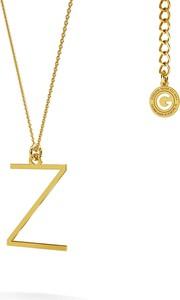 GIORRE Srebrny naszyjnik z literką, alfabet, srebro 925 : Kolor pokrycia srebra - Pokrycie Żółtym 18K Złotem, Litera - Z