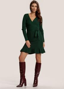 Zielona sukienka Renee kopertowa mini w stylu casual