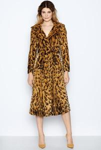 Brązowy płaszcz Izabela Lapinska z bawełny