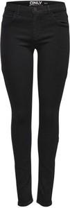 Czarne jeansy Only z bawełny w street stylu