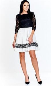 f8ad7c748f rozkloszowana sukienka z koronkowa góra - stylowo i modnie z Allani