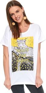 T-shirt Top Secret z krótkim rękawem w młodzieżowym stylu