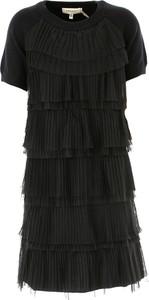 Czarna sukienka dziewczęca Twin Set By Simona Barberi z dzianiny
