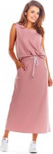 Różowa spódnica Infinite You z bawełny