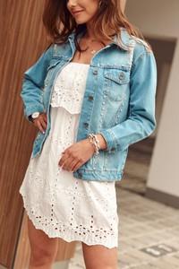 Niebieska kurtka Fasardi z jeansu