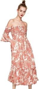 Różowa sukienka Pepe Jeans maxi