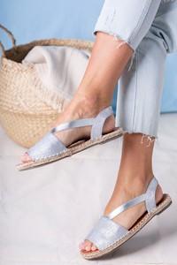 Sandały Casu z klamrami z tkaniny