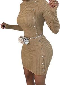 Sukienka Cikelly mini z długim rękawem z golfem
