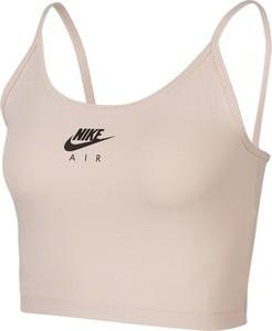 Różowy top Nike z bawełny