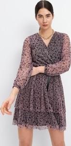 Fioletowa sukienka Mohito z długim rękawem w stylu casual