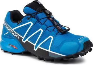 Niebieskie buty sportowe Salomon z goretexu