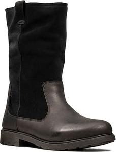 Buty dziecięce zimowe Clarks ze skóry na zamek