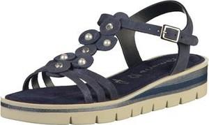 Sandały tamaris w stylu casual z zamszu