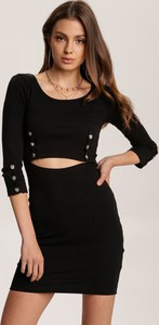 Czarna sukienka Renee w stylu casual