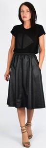 Czarna spódnica Collibri ze skóry ekologicznej