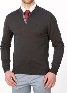 Brązowy sweter Lanieri z bawełny w stylu casual