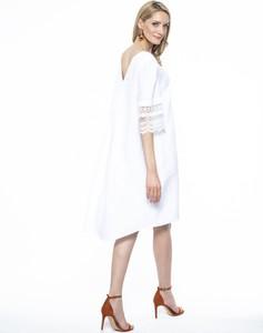 Sukienka L'AF z długim rękawem z lnu