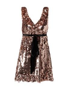 Złota sukienka Free People z dekoltem w kształcie litery v
