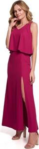 Sukienka MOE bez rękawów z dekoltem w kształcie litery v