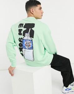 Zielona bluza Asos w młodzieżowym stylu z nadrukiem