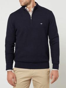 Granatowy sweter Fynch Hatton ze stójką