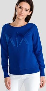 Bluza Armani Jeans krótka w młodzieżowym stylu z bawełny