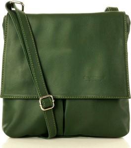 Zielona torebka Merg matowa ze skóry