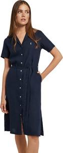 Sukienka Polo Club koszulowa z krótkim rękawem mini