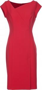 Różowa sukienka VISSAVI mini z asymetrycznym dekoltem bez rękawów