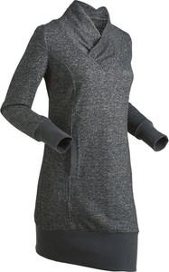 Sukienka bonprix bpc bonprix collection z długim rękawem z dresówki