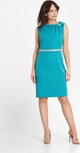 Niebieska sukienka Marcelini prosta