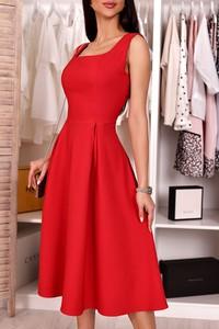 Czerwona sukienka IVET trapezowa