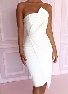 Sukienka Sandbella midi bez rękawów asymetryczna
